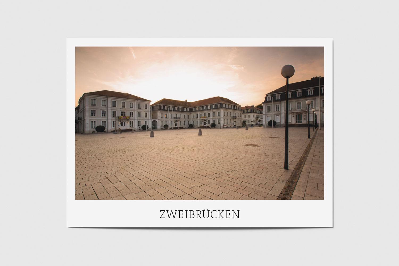 Zweibrücken: Herzogplatz am Abend